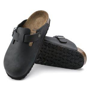 Birkenstock Boston Oiled Leather Close Toe Slip On